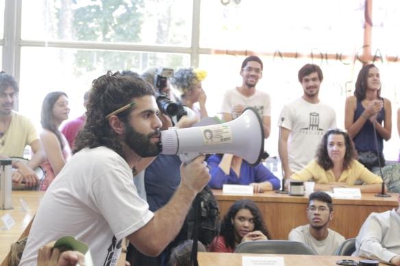 Estudantes ocupam Consuni (11/5/2015). Foto: Renan Silva